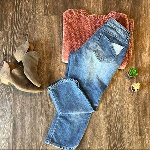 Nine West | 4 | cropped jeans | curved hem w slit